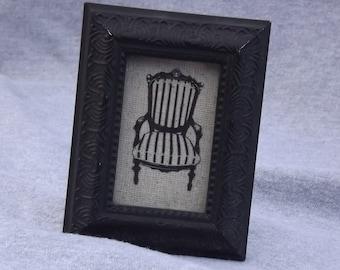 Mini framed Edwardian chair.