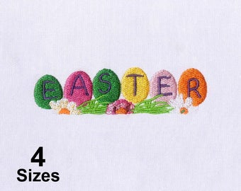 Dazzling Colorful Easter Eggs Embroidery Design