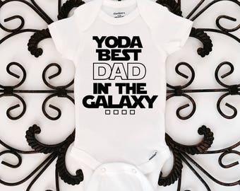 Yoda best dad in the galaxy onesie, Father's Day, Star Wars onesie, Star Wars, funny onesie