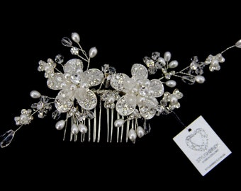 Bridal Crystal Hair Comb, Hair Wedding Comb, Crystal  Hair Comb, Hair Accessories, Crystal Bridal Comb, Bridal Crystal Hairpiece