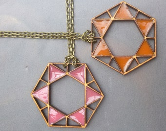 ASTRA Necklace   Resin Necklace   Geometric Necklace   Laser Cut Necklace   Wood Necklace   Gift for Her