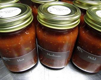 Homemade Salsa, 16 ounce, Choose Your Heat--Mild, Medium, Hot