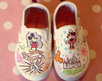 Disney Sketch custom painted shoes