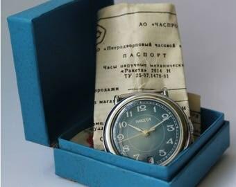 NOS, Soviet watch, vintage mens watch Raketa, mechanical watch USSR, working.