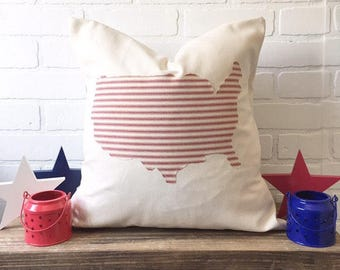 USA Pillow Cover to Support DAV
