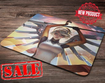 Mercy Overwatch Mouse Pad overwatch mousepad home decor overwatch accessories overwatch champion