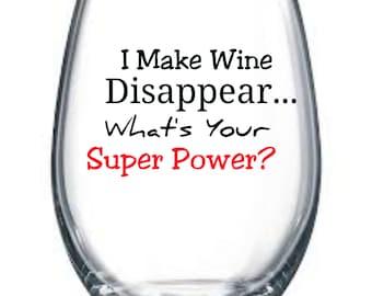 I make wine disappear