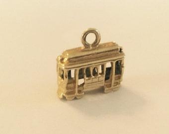 14k yellow gold San Francisco streetcar charm vintage antique # 10