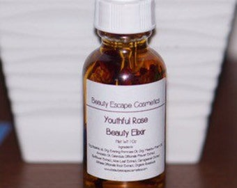 20% OFF!! Youthful Rose Beauty Elixir - Rosehip and Evening Primrose Beauty Oil