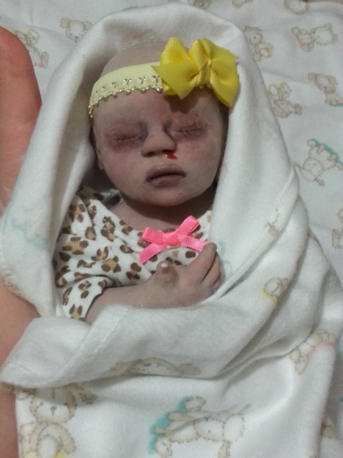 Boo Boo Silicone Zombie Preemie Baby Girl