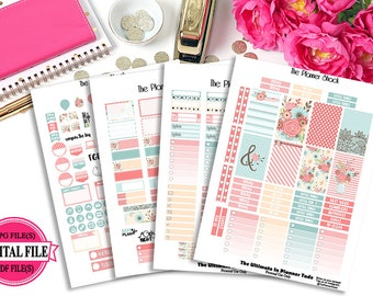 Spring Breeze // Happy Planner // Printable Planner Stickers