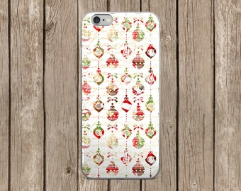 Colorful Christmas Ornaments Design iPhone Case   iPhone 5/5s/SE   iPhone 6/6s   iPhone 6 Plus/6s Plus