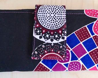 Ankara Wallet - Bi-Fold Wallet - Black Ankara Wallet - Bi-Fold Ankara Wallet - Tribal Bi-Fold Wallet - African Wallet - Tribal Wallet