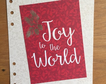 Joy to the World A5 Dashboard
