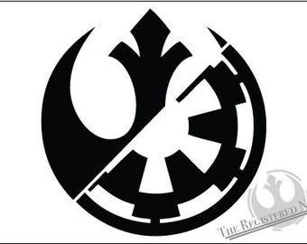Rebel Alliance Galactic Empire hybrid vinyl decal Star Wars Rebels Rogue One starwars