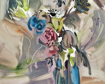 Contemporary Art Flower Archival Print, Limited Edition and Hand-signed by the artist