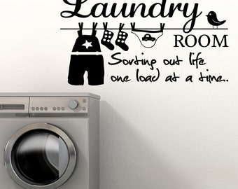 THE LAUNDRY ROOM Sorting life Out - Vinyl Wall Art Sticker Decal