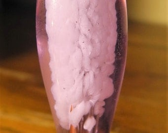 Lavender with White Frit Cloud Glass Chillum One Hitter Pipe Bowl