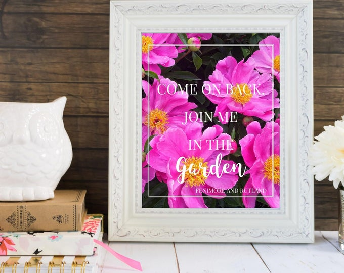 Featured listing image: PRINTABLE - Join Me In The Garden - 8x10 Digital Art