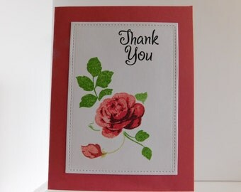 Thank You Card, Thank You Greeting Card, Handmade Greeting Cards, Thanks, Grateful, Appreciate You Card