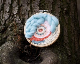Spring pastel circular weaving