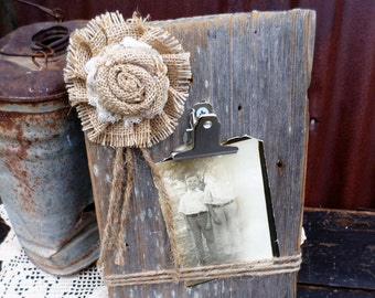 Reclaimed Wood Photo Holder