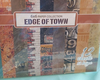 6x6 Scrapberry's Edge of Town paper pack