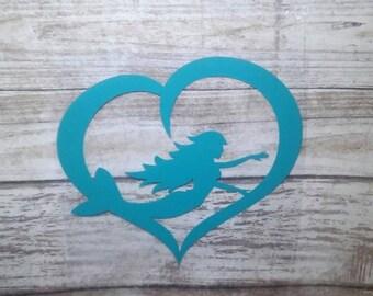 Mermaid Vinyl Decal, Yeti Decal Mermaid, Car Decal, Yeti Decal for Women, Laptop Decal, Mermaid Decal, Mermaid Sticker, Personalized Decal