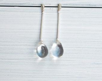 long white drop earrings, bride earrings - 20's inspired - wedding earrings -  gifts for her