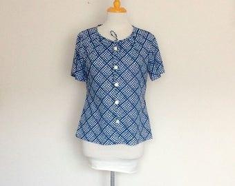 1970s Eugen Fashions Button Up Blouse Vintage