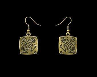 "Earrings ""Fiery Monkey"""