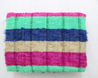 Handmade Hand woven Chindi Area Rugs Rectangular Carpet Durrie Recycled Bohemian Beach Garden Yoga Mat Indian Floor Kilim Counterpane I626