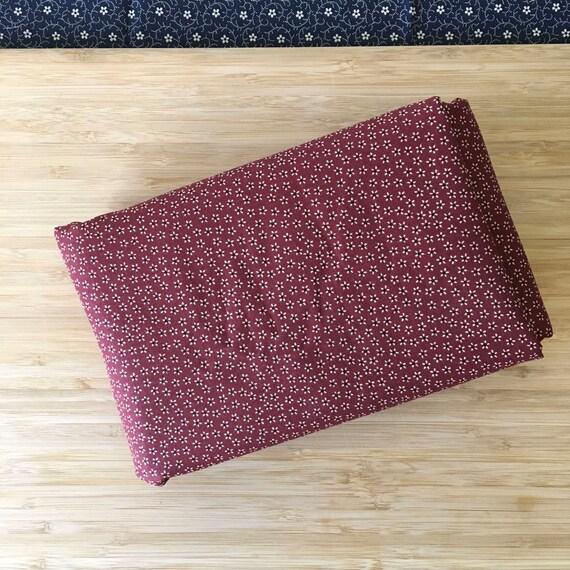 Furoshiki Gift Wrapping Cloth - Japanese Cotton Furoshiki - Tiny Red Sakura Design by Kendo Girl