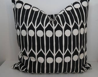 Double-sided 18'' FEATHERS cushion cover, handmade from Littlephant 100% cotton fabric. Pillow case, for pillow in size 45x45 cm (18''x18')