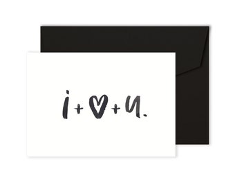 I + Love + U - Valentine's Day Card