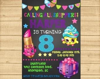 Shopkins Invitation, Shopkins Birthday Invitation, Shopkins Birthday, Shopkins Invite, Shopkins Party, Shopkins Invitation Printable