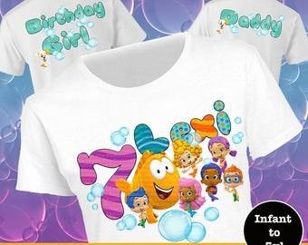 Bubble Guppies Birthday Shirts, Family Birthday Tees, Bubble Guppies Shirt, Nick Jr Shirt, Character Birthday Shirt, Mr Grouper Shirt