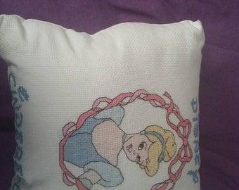 Disney cinderella cross stitch cushion