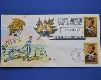 Scott Joplin 1983 FDC By Ham Hand Painted Joplin 20c postage stamp