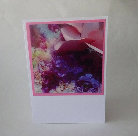 Mother's Day Card - Pink Rose and Flowers - #420