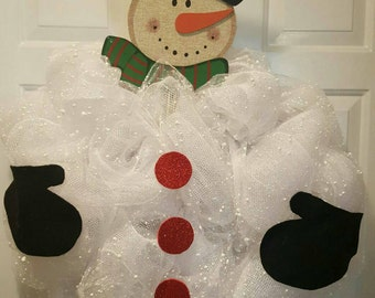 Snowman Wreath   Winter Wreath   Art Deco Welcome Snowman   Snowman  Decoration   Snowman Welcome