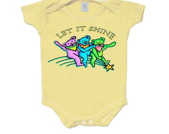 Grateful Dead baby bodysuit. Dancing Bears on a shooting star. Infant/onesie/romper