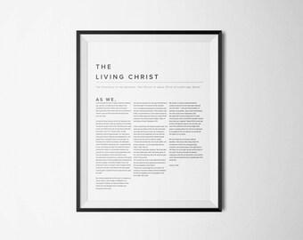 The Living Christ 16x20 Printable