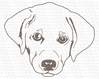 Labrador Retriever Svg Clipart, Dog vector art by SpeecchBubble