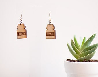 Health & Mana Drop Earrings