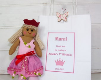Princess Party Bag favour ~ personalised gift