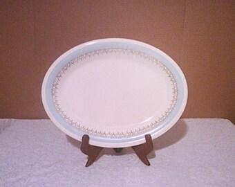 Edwin M Knowles semi vitreous oval serving platter.