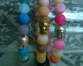 Agate bracelet Buddha