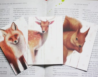 Three Forest Animals Postcards