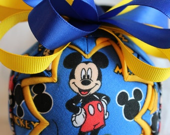 Mickey Mouse Fabric Quilted Ornament